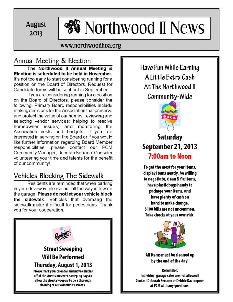 Northwood II August Newsletter_Page_1